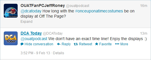 DCAToday OUAT Costumes answer